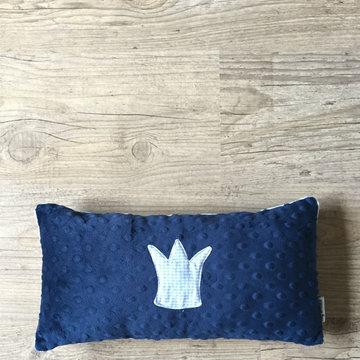 Sierkussen - Kroontje - Vichy baby blue