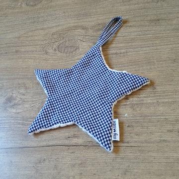 Tutdoekje - Ster - Vichy blue marine