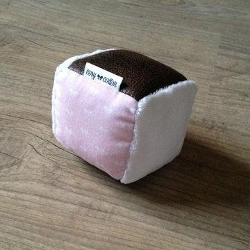Rammelaar - Dobbelsteen - Pink Little Bows