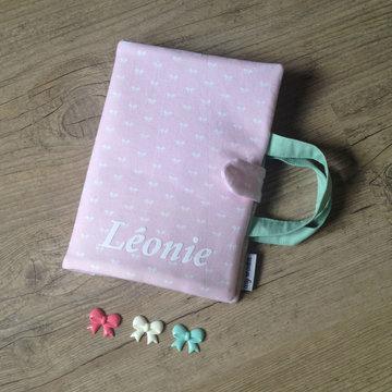 Etui kleurtjes met tekenboekje - Naam - Pink Little Bows